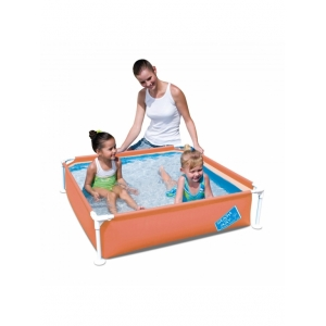Детский каркасный квадратный бассейн BestWay 56217 Размер: 122 x 122 x 30.5 см