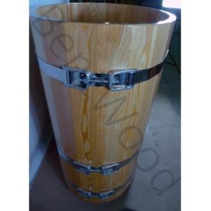 Купель овальная из лиственницы 0,69х1,31 h=1,0