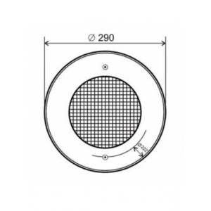 Прожектор Aquant 300Вт-12В под бетон 82111 с декоративной накладкой из нержавеющей стали