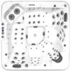Гидромассажный бассейн IQUE Dreamline-II 2200-II-DD-BP (WiFi) (220х220х96)