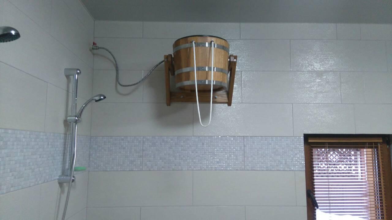 Ведро-водопад для бани с пластиковой вставкой, 16 литров